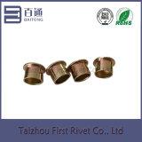 9.4X10mm亜鉛は平らなヘッド半管状の鋼鉄クラッチのリベットをめっきした