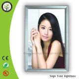 Rectángulo ligero curvado LED publicitario de aluminio delgado del marco rápido