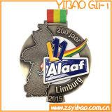 Изготовленный на заказ золотая медаль логоса для подарков сувенира (YB-MD-40)
