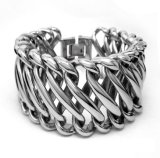 Projeto Titanium do estilo 2 do punk do estágio da jóia do corpo de aço dos braceletes dos homens