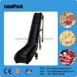 Transportador de inclinação de plástico modular e cinto flexível