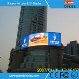 Tela ao ar livre rentável do vídeo do diodo emissor de luz da cor P8 cheia