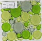 Tipo mosaico de cristal (VMG1010) de la redondez