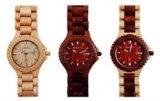 남녀 공통 Slingshot 버클 나무로 되는 손목 시계