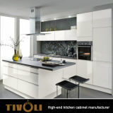 中国は品質の現代光沢度の高く白い食器棚をカスタマイズした