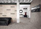 Telha de assoalho antiderrapante rústica do banheiro da cozinha da porcelana elegante do material de construção da alta qualidade do teste padrão do cimento