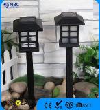 Indicatore luminoso esterno del giardino dell'indicatore luminoso solare di plastica promozionale del palo