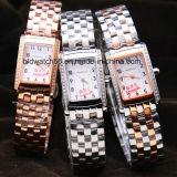 Les filles façonnent la montre-bracelet 3ATM de bracelet d'acier inoxydable imperméable à l'eau
