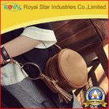 Frauen-Handtaschen-Form runder Crossbody Beutel mit Troddel und abnehmbarem justierbarem Schultergurt
