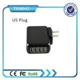 Carregador portuário de venda quente da parede do USB do carregador 4 da parede do USB do telefone de pilha para o telefone móvel