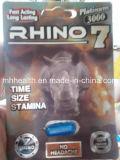 Rinoceros 7 Platina Pillen van de Versterker van het Geslacht van 3000 Mg de Mannelijke
