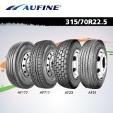 Aufine 315 / 80r22.5 Af88 TBR Tire para Steer, Drive e Trialer Position