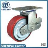 """6 """"鉄心PUの単一のばねの旋回装置の耐震性の足車の車輪"""