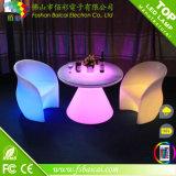 조명된 바 테이블 알루미늄 바 테이블 LED 가구