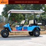 6 Seater後部フリップシートが付いている電気ハンチングゴルフカート
