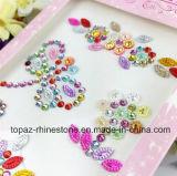 스티커 번쩍이는 다이아몬드 주옥 DIY 이동 전화 접착성 수정같은 모조 다이아몬드 스티커 Scrapbooking 스티커 (TP 꽃 스티커)