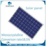 Panel TUV Standard nivel bajo de hierro vidrio templado 36 células poli silicio cristalino Solar
