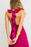 Шикарный безрукавный a - линия платье вечера с сборками дальше подпирает