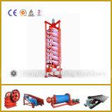 Canal inclinado espiral rotatorio de la fibra de vidrio para el carbón que procesa de Jiangxi
