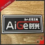 Etiqueta de borracha gravada costume do silicone do PVC da alta qualidade para o vestuário
