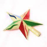 El árbol de navidad adornó el ornamento--Estrella superior del árbol