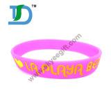 Bracelete feito sob encomenda do silicone, Wristband relativo à promoção do silicone do esporte do OEM