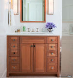 Rétro vanité américaine de type de chêne rouge pour la salle de bains