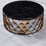 2017 유일한 결합 황금 스테인리스 대리석 커피용 탁자