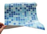 Forro antiderrapante por atacado da piscina do PVC da cor do mosaico da cor do azul de 1.2mm 1.5mm 2mm