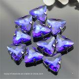 Dreieck-Greifer-Einstellung nähen auf fantastischem Steinkristallglas-Kristallstein (Schalter-Dreieck 23mm)