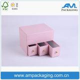 Le cube a annoncé le cadre de empaquetage de bijou de quatre couleurs avec le couvercle