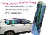 Blau, zum Scartch Beweis-des Solarfenster-Chamäleon-Tönung-Filmes zu grünen