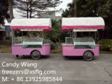 Congeladores italianos do Showcase do trole/sanduíche do gelado do carro/de Gelato para a venda