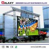 Brillo impermeable de la pantalla video grande de alquiler a todo color de la publicidad al aire libre LED alto