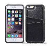 Portatarjetas loco de la caja del cuero de caballo de la caja móvil del teléfono celular TPU para el bolso del teléfono móvil del iPhone