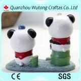 Figurine fabriquée à la main de panda de cadeau de souvenir de résine de vente chaude belle