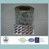 Papel de aluminio impreso y térmico en caliente para medicinal empaquetando 8011 H18