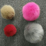 プラシ天袋の魅力の偽造品の毛皮のウサギののどの毛皮POM