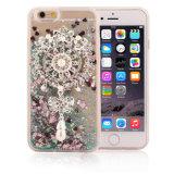 Caja líquida del teléfono de la arena movediza TPU de la estrella de la perla del diamante para el iPhone 6 6splus 7 7plus