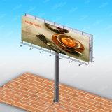De sterke Weg die van de Banner van de Structuur van het Staal Flex OpenluchtAanplakbord adverteren