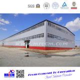 기중기를 가진 강철 구조물 공장