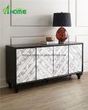 Muebles de madera reflejados cabina barata de la cabina de almacenaje de la sala de estar de la alta calidad