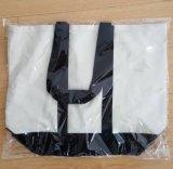 Sacchetto di trasporto del cotone della tela di alta qualità con il fondo del cuoio