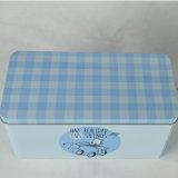 Caja de almacenamiento de encargo metálica rectangular, caja del metal, caja del caramelo del metal