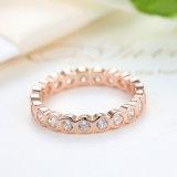 925 Stering 애인 & 우아 디자인 8# 크기 백색 CZ 925 이탈리아 사람 은 반지를 위한 우아한 간단한 심혼 모양 은 반지