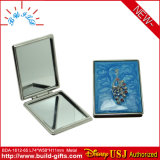 Specchio cosmetico di alluminio del Portable di trucco del quadrato su ordinazione di marchio
