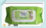 kundenspezifischer Wischer-Pets antibakterieller Haustier-Wischer des Haustier-80count nasse Wischer