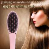 Balai de redressage électrique populaire de redresseur de cheveu du peigne DEL
