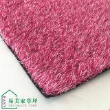 Hierba falsa sintetizada de la alta calidad del PE del color de rosa 20m m