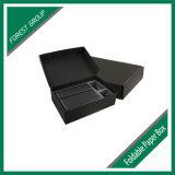 A caixa no preto com logotipo imprimiu no branco ou na prata